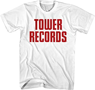 Tower Records West Hollywood CA Vintage Stack Logo Adult T-Shirt Tee