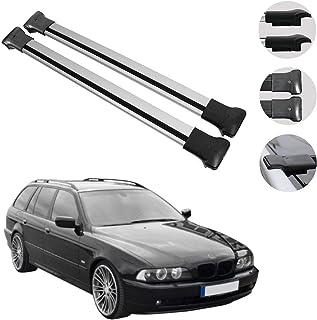 OMAC GmbH Aluminium Grau Dachträger Dachgepäckablage Relingträger Kompatibel mit Dacia Duster 2009 2014 Dachgepäckträger mit TÜV ABE
