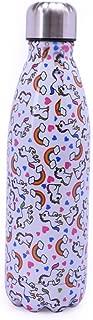 Stainless Steel Sport Insulated Water Bottle Wood Grain Unicorn Letter Bowling Shaped Drinkware Coke Bottle