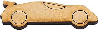 EliteKoopers Fanions en bois MDF en forme de voiture pour scrapbooking, projet, fabrication de cartes, décoration, etc.