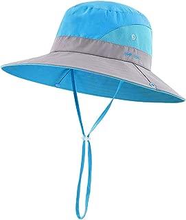 MZLIU Kids Boys Girls Summer Wide Brim Sun Hat UPF 50+ (3T-7T)