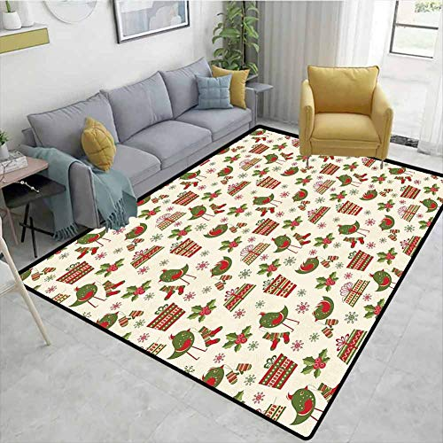 Best Deals! Christmas Checkered Anti-Static Area Rugs, Surprise Boxes with Rich Patterns and Holiday...