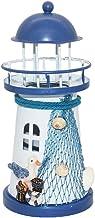 Decoratieve mediterrane stijl vuurtoren ijzeren kaars LED licht huis decoratie