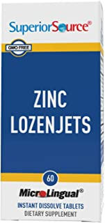 Superior Source Zinc Lozenjets w/Vitamin C, Immune Support Nutritional Supplement 60ct Packaging may vary