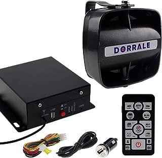 DORRALE Car/Truck Police Siren 100W DS7300 Wireless Amplifier with Black Meter Ultra Slime Flat Speaker,DC12V,Multi-Tones,Two Lights Control,Emergency Electronic Siren Signal PA System