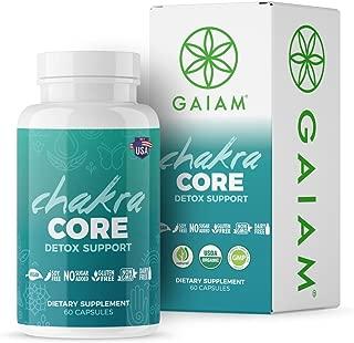 GAIAM Organic Chakra Core Detox Support (Made in USA, USDA Organic Certified, Horsetail, Dandelion, Artichoke, Black Radhish) - 60 Capsules