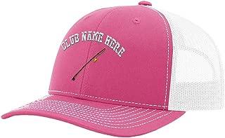 Custom Richardson Trucker Hat Sport Fly Fishing Rod Embroidery Club Name Snaps
