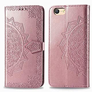 For OPPO A57 Flip Case, Emboss Datura Rhinestone Leather Protective Wallet Case with Card Slots & Holder & Magnetic Closur...