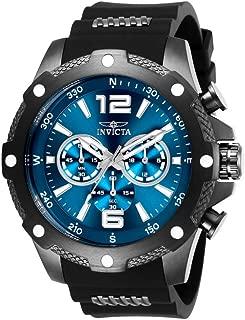 Invicta Men's I-Force Stainless Steel Quartz Watch with Polyurethane Strap, Black, 24 (Model: 27272)