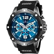 Men's I-Force Stainless Steel Quartz Watch with Polyurethane Strap, Black, 24 (Model: 27272)