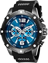 Invicta Men's I- I-Force Stainless Steel Quartz Watch with Polyurethane Strap, Black, 24 (Model: 27272)