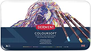Derwent Colored Pencils, ColourSoft Pencils, Drawing, Art, Metal Tin, 36 Count (0701028)