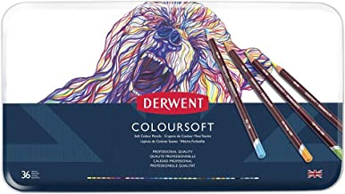 DERWENT(R) 701028 COLOURSOFT Pencils, TIN of 36