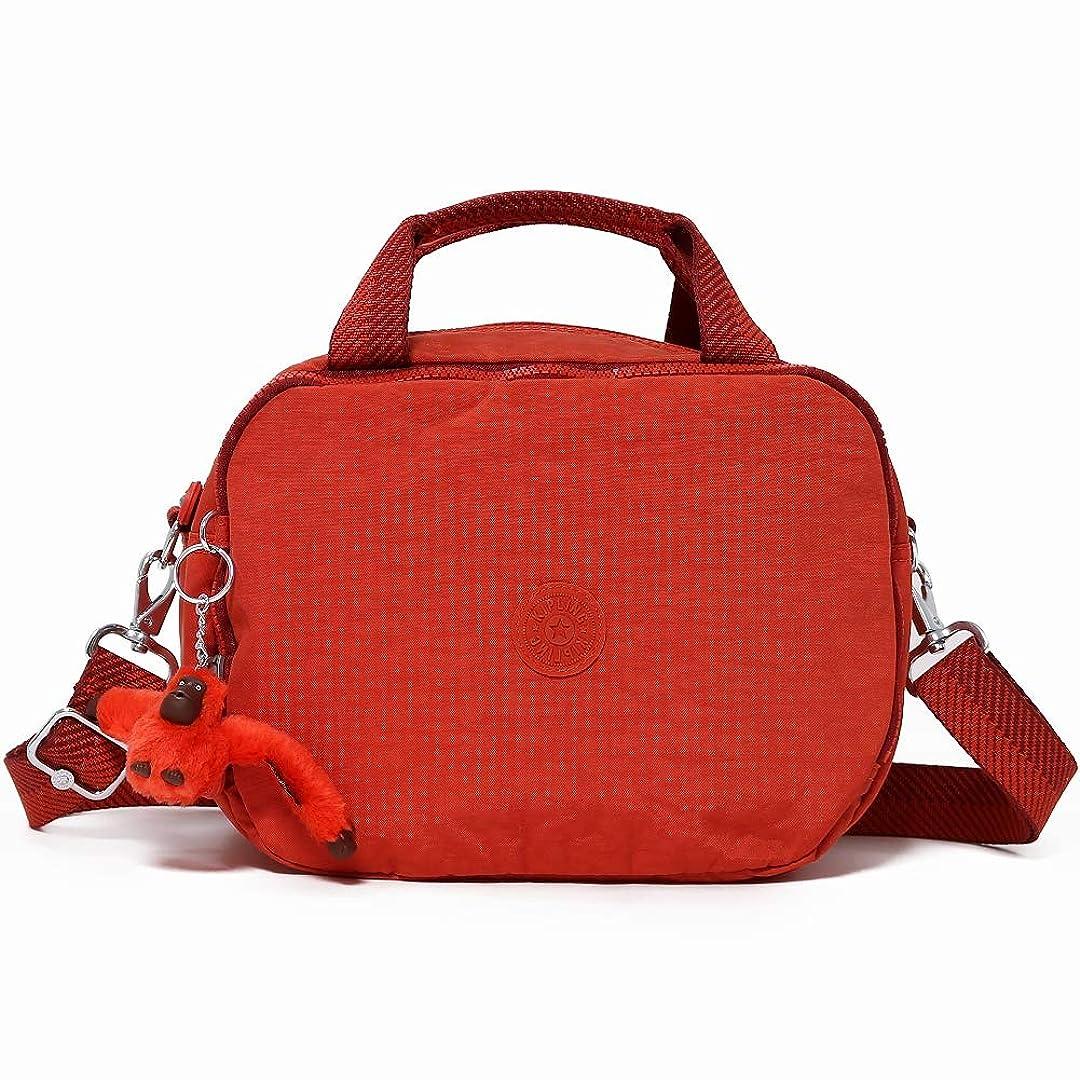 のぞき見ブレス主婦Kipling キプリング 2WAYコスメバッグ K13860 PALMBEACH 16P Active Red [並行輸入品]