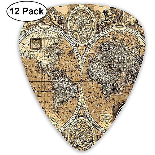 12 Pack Een nieuw Manuscript van de Wereld Geschiedenis Gitaar Picks Complete Gift Set voor Gitarist
