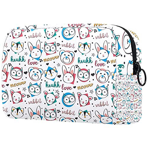 KAMEARI Bolsa de cosméticos Funny Animals Pattern Large Cosmetic Bag Organizador Multifuncional Bolsas de viaje