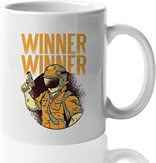 Gamer Coffee Mug - Winner Winner - Gamer Video Game Gaming Parody Witty Unique Creative Joystick BR Lover Brother Husband ...