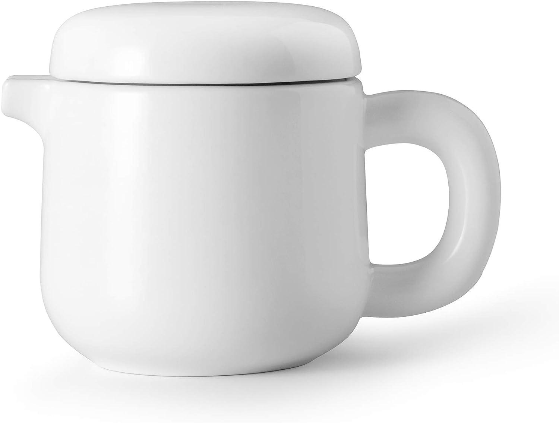 VIVA Isabella Porcelain Teapot, Pure White, 20 Ounce