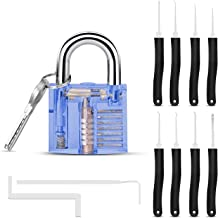 Lock Repair Set with Blue Lock - 9 PCS Tools