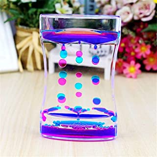 Water Motion Liquid Bubble Timer, Calming Sensory Fidget and Relaxation Desk Toy, Therapeutic Focus Game