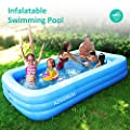 """AZSSMUK Inflatable Pool,Full-Sized Adult Inflatable Swimming Pool Kiddie Pools for Family Kids, Adults, Infant, Garden, Backyard,Water Party,120"""" X 72"""" X 22"""",Summer Water Party,Family Swimming Center"""