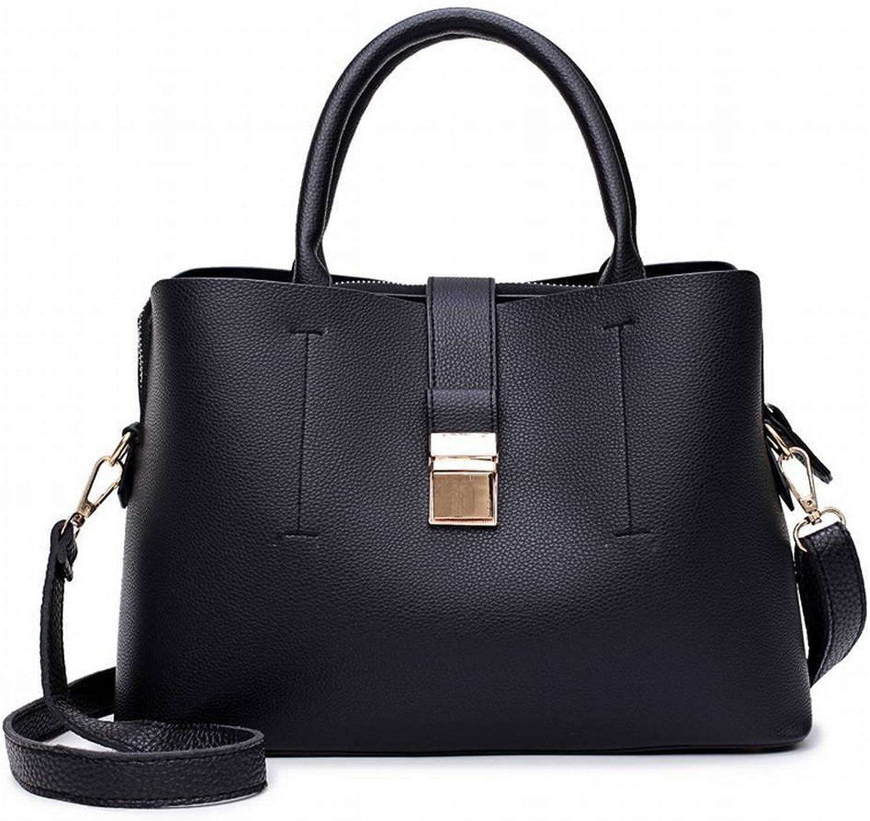 YTTY Mode Eimer Handtaschen Trendige Weibliche Umhngetasche Einfache Messenger Bag Weiche Handtasche, schwarz