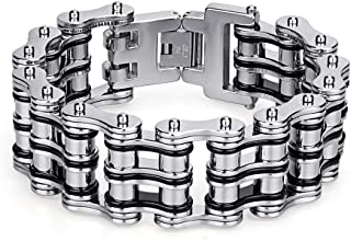Best silver motorcycle chain bracelet Reviews