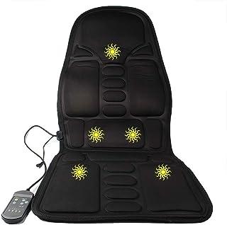GFQ Silla de masajeador de Espalda para Muslo con función de Calor Motores Vibración para el hogar Oficina de automóvil Relájese Músculos de Espalda Completa Alivio del Dolor Almohadilla de Shiatsu