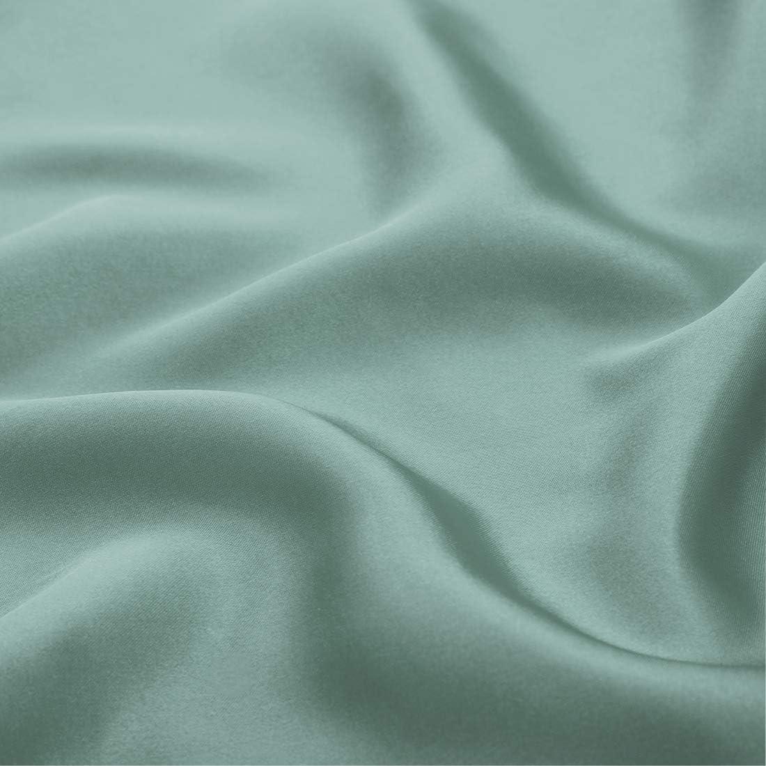 1 Pillowcase 1 Flat Sheet Cobedzy 3 Pcs Black Satin Sheets Twin Size Soft Silk Satin Bedding Sheets Set with 1 Deep Pocket Fitted Sheet