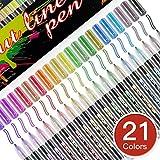 Baozun Outline Stifte 21 Farben Wasserfester Stifte Acrylstifte Geschenkkarte Schreiben von...