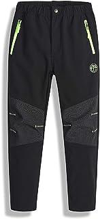 Pantalones para Niños de Invierno Pantalones Nieve Térmicos Pantalon de Chandal Casual Esquí Senderismo 120-170 cm