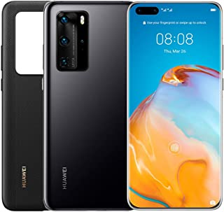HUAWEI P40 Pro 256 GB 6.58 Inch Smartphone Bundle with PU Case, Kirin 990 5G, 50 MP Ultra Vision Leica Quad Camera, 8 GB R...