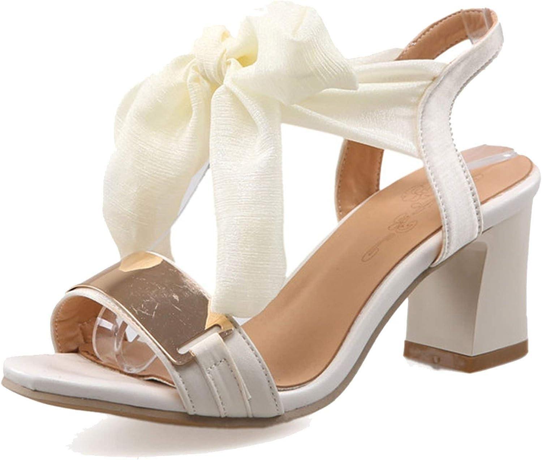 Elegant Butterfly-Knot Sandals Women Summer Metal Decorating Women High Heels shoes Woman