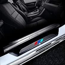 4PCS Carbon Fiber Car Door Sill Door Entry Scuff Plates Door Sill Cover Stickers for BMW X5 F15 2014 2015 2016 4D M Car Styling Auto Part