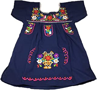 Mexican Infant Dress Size 0 Tehuacan Dress Color Blue Day of The Dead Coco Theme Party Halloween Party