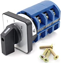 AC 660V 63A Cam Changeover Switch 3 Positions 12 Screw Terminals 3NO+3NC Rotary Selector w Screws LW28-63/3