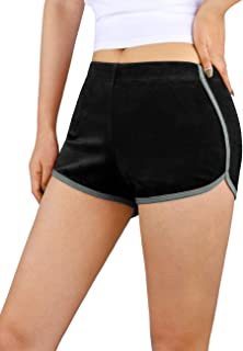 DISHANG Women's Dolphin Shorts Casual Velvet, Athletic Running Workout Lounge Shorts Active Dance Exercise Yoga Short Pants
