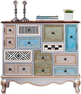 WH-IOE Buffet de Cuisine Armoire de Rangement étage Cabinet Permanent Retro Organisateur Accent Enfilade Rangement Cabinet...