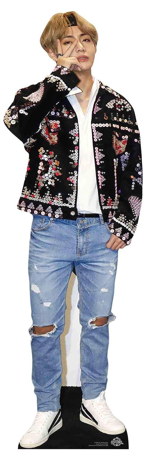 STAR CUTOUTS CS901 BTS Bangtan Boys Headband Kim_Taehyung_V (Star Mini) 90cm Tall, Multicolour