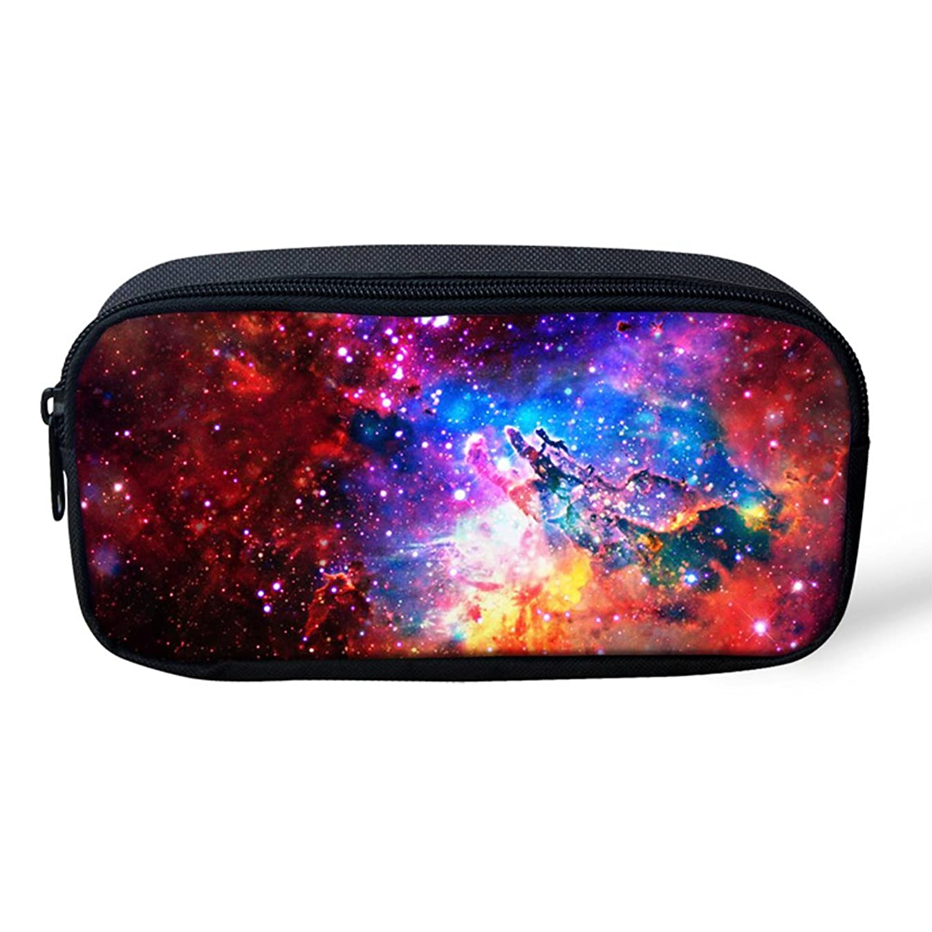 Ledback 3D Galaxy Pencil Box for Boys Multi Color Pencil Bag Children Teens Pen Holder Cosmetic Makeup Bag Women Durable Polyester Stationery Pouch Bag Large Capacity hddaywvyh