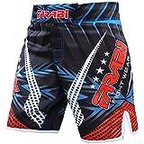 Farabi MMA Boxing Kickboxing Muay Thai Mix Martial Arts Cage Fighting Grappling Training Gym wear Clothing Shorts Trunks (Large)