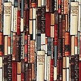 Fabulous Fabrics Gobelin Bücher wollweiss — Meterware ab