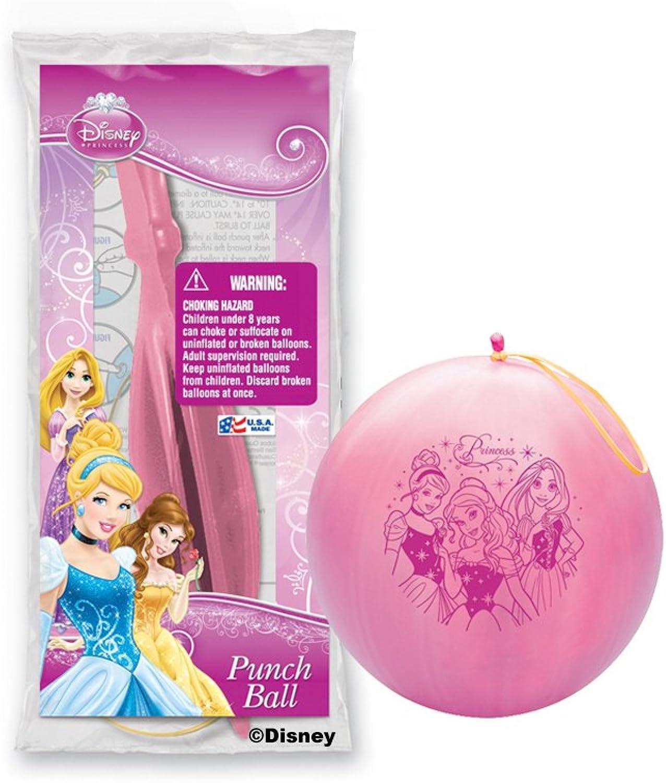 Pioneer National Latex Disney Princess Punch Balls, Assorted, 6Piece