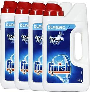 Finish Dishwasher Detergent Powder, Classic - 1 Kg (Pack of 4)
