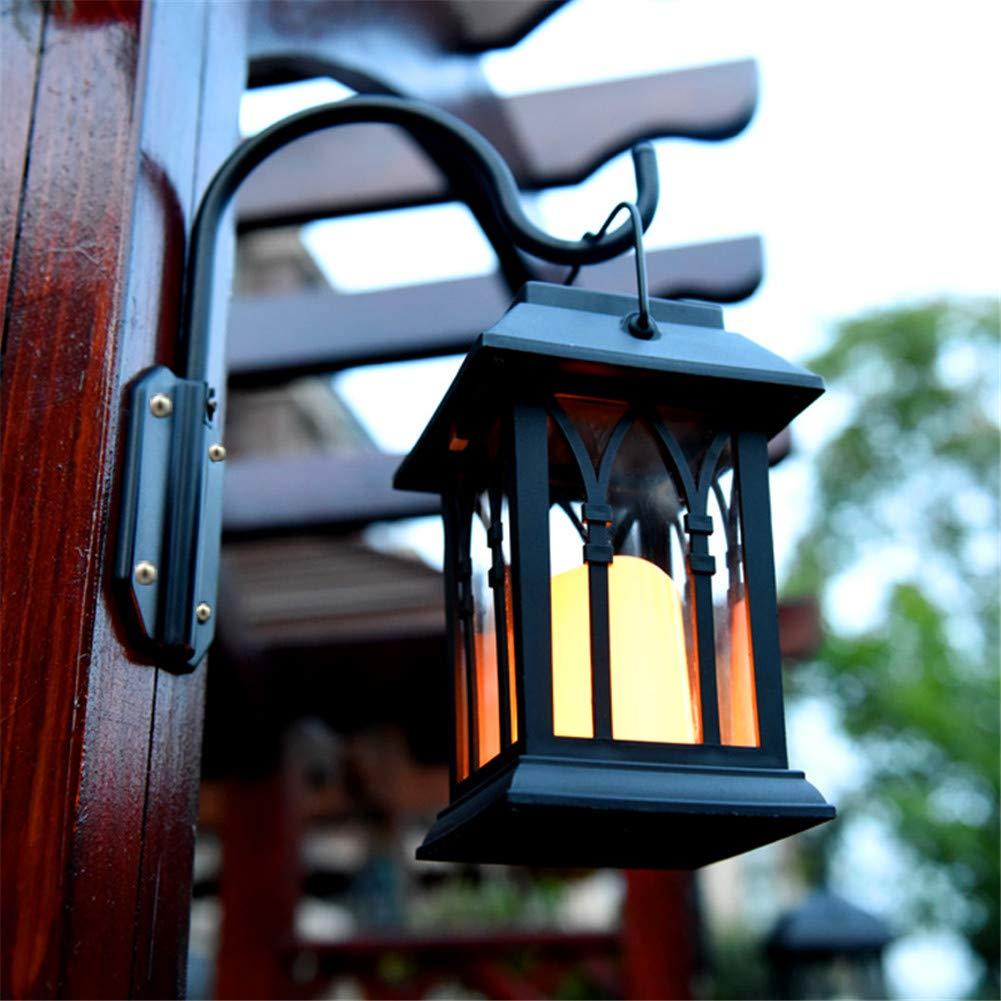Faroles Solares De Pared Decoración De Interior Al Aire Libre Luces De La Vela De Carga Solar Retro Linterna para Jardín Patio Patio Decorativo,1Pack: Amazon.es: Deportes y aire libre