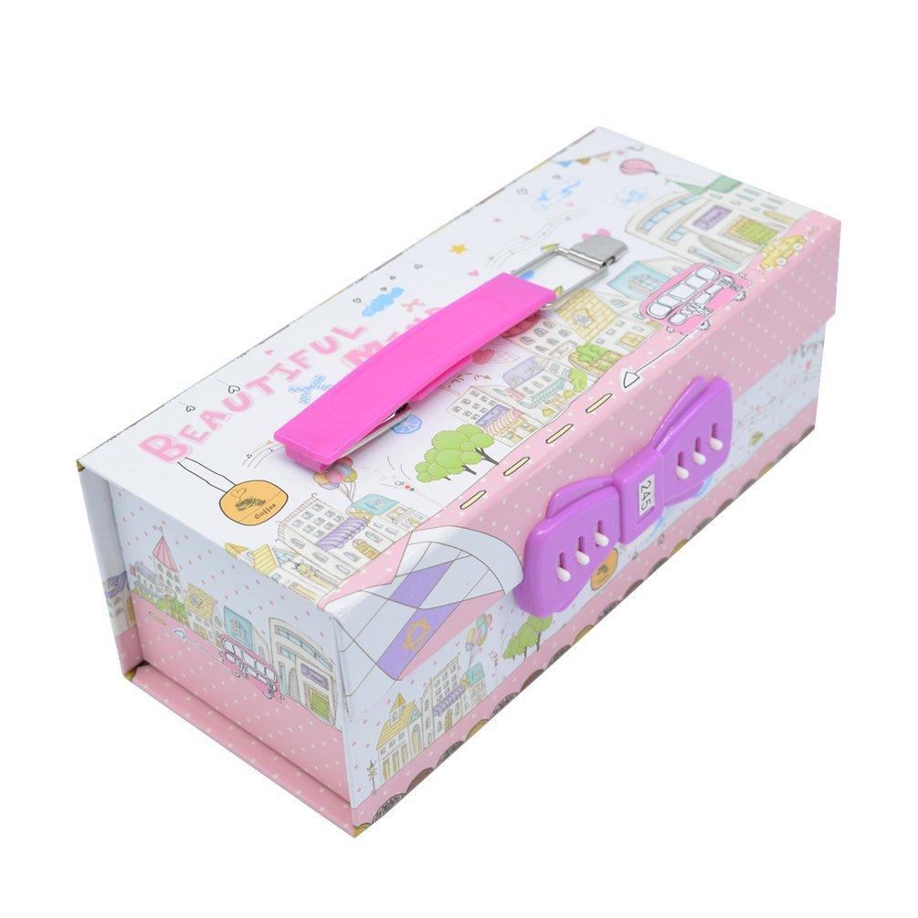 goorcc Unique – Estuche portalápices para niños organizador de contraseña lápiz Pen caso: Amazon.es: Oficina y papelería