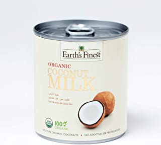 Earth's Finest Organic Coconut Milk - 200ml | Pure Organic Coconut Milk for Professional and Home Cooking | 100% Plant-Bas...