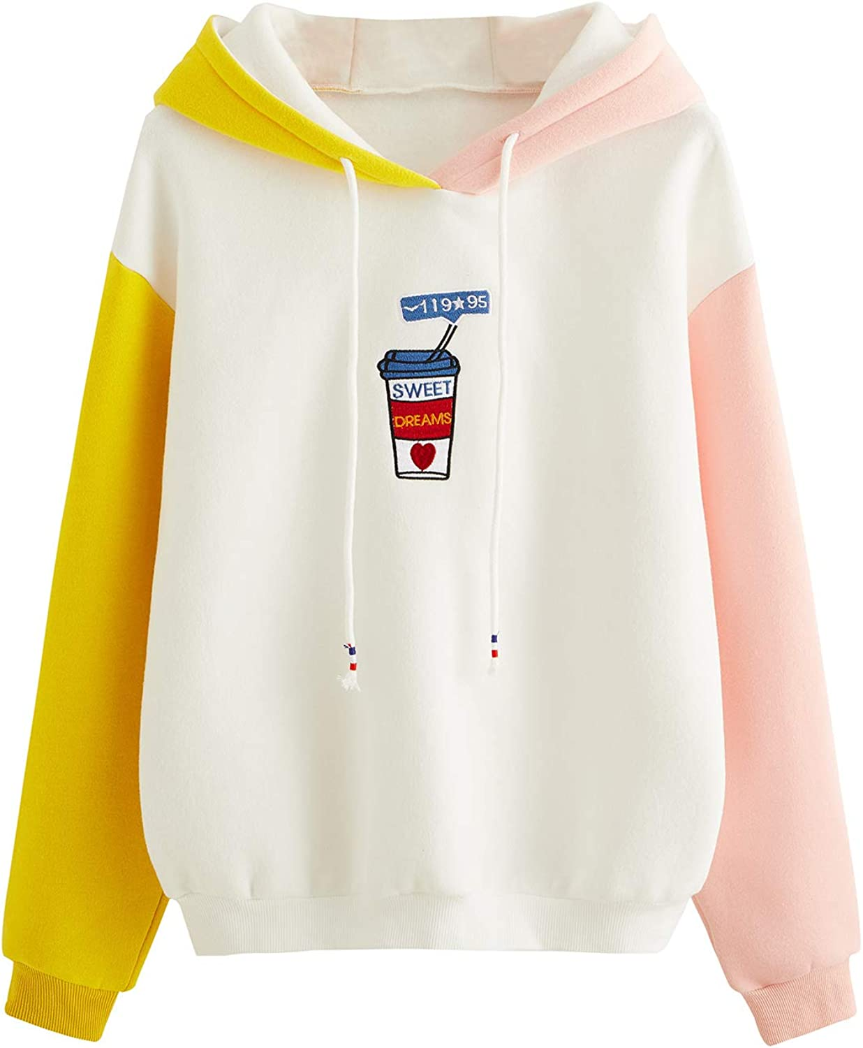 Recommended SweatyRocks Womens Long Sleeve Kawaii Hoodie Colorblock Pullover Max 59% OFF