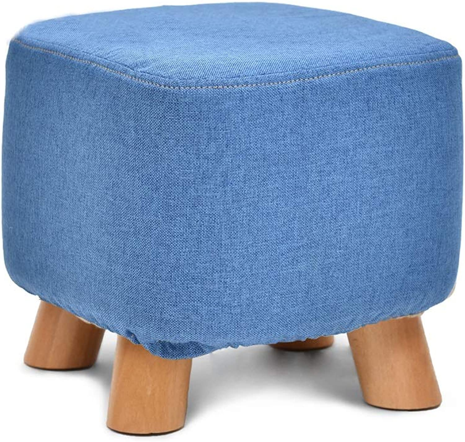 Footstool, Change shoes, Stool, Fabric, Stool, Solid Wood Stool, Sofa Stool, Removable and Washable (color   K)
