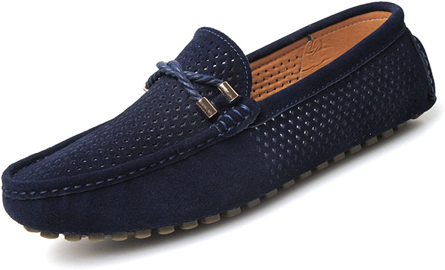 Summer Men shoes Casual Breathable Mens Penny Loafers Suede Leather Slip On Boat shoes Men